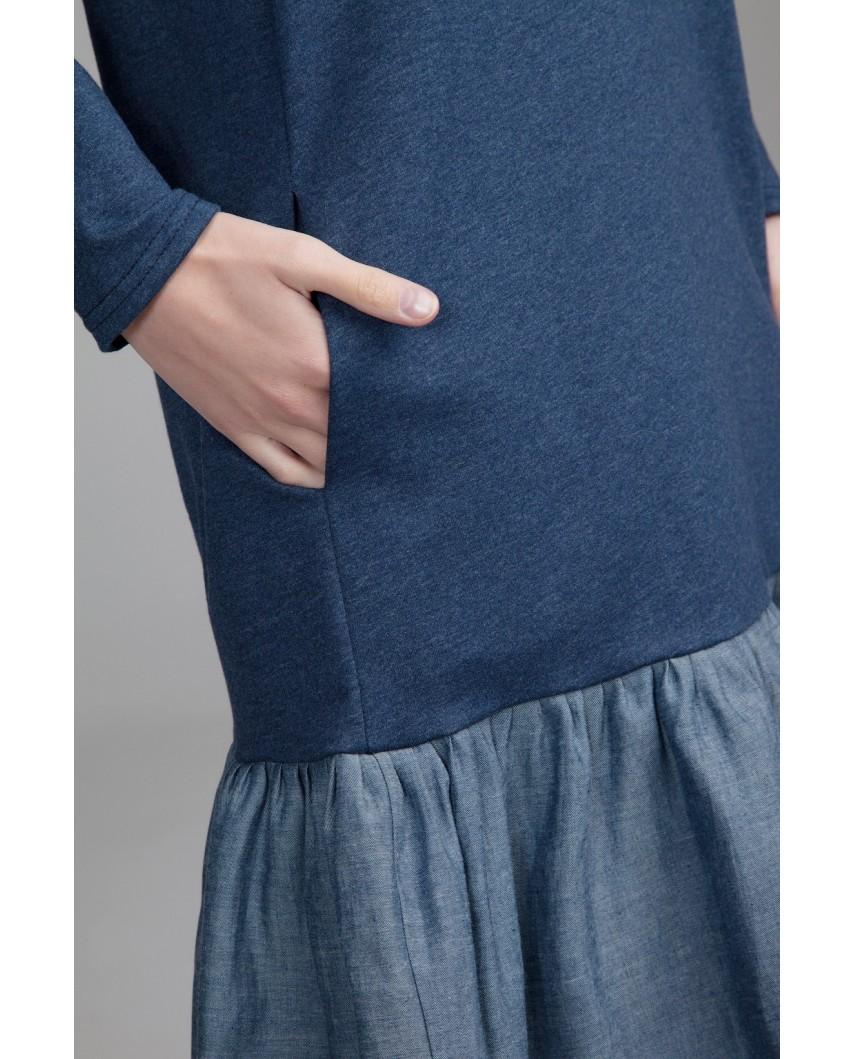 Платье Фрезия (индиго)