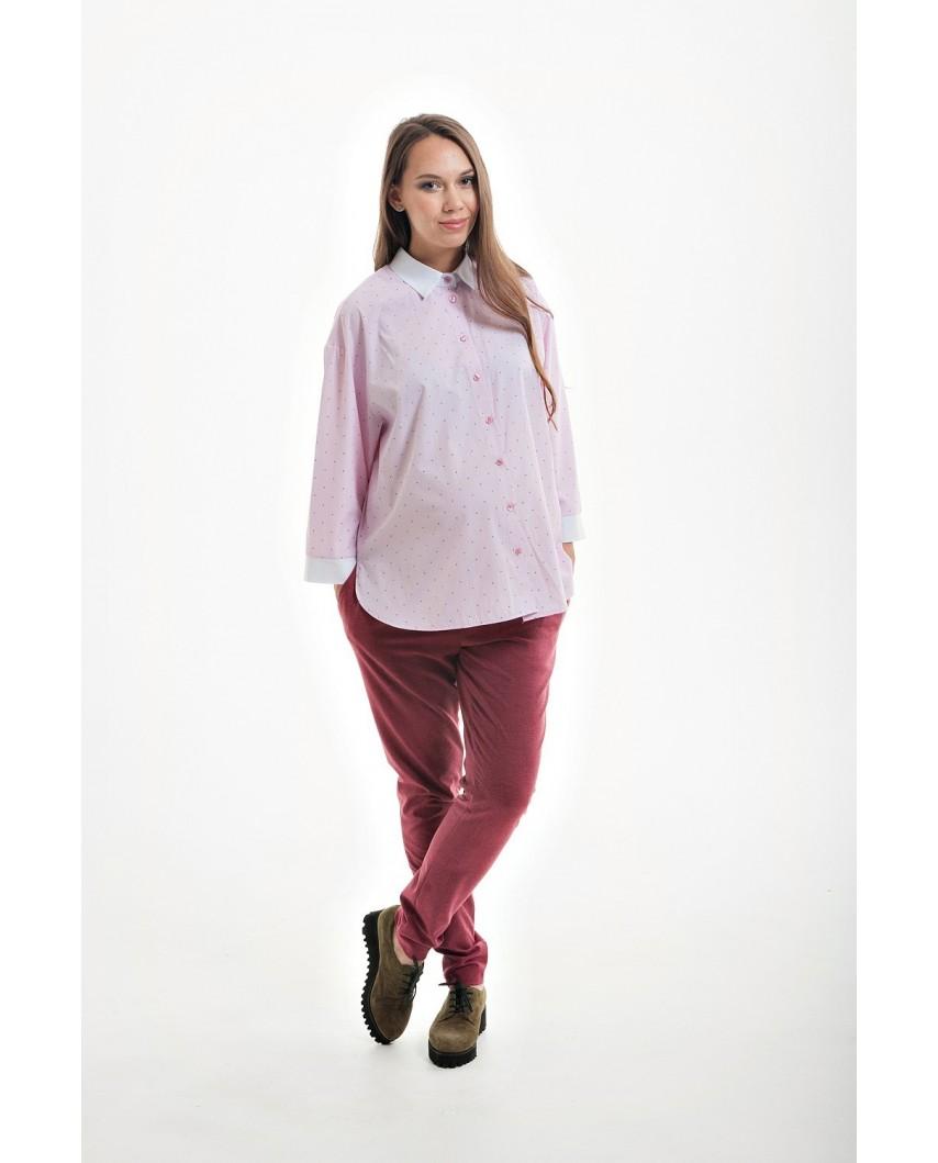 Брюки для беременных с удобной регулировкой  (красный)