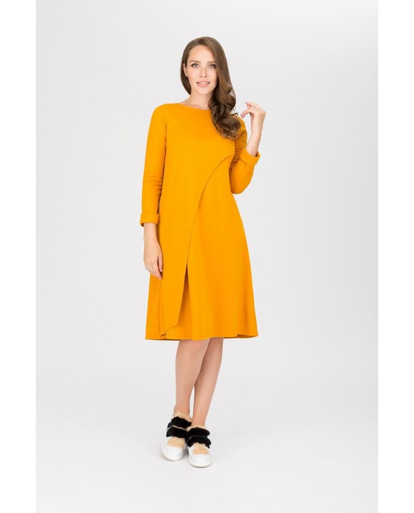 Платье Богема (горчичное)